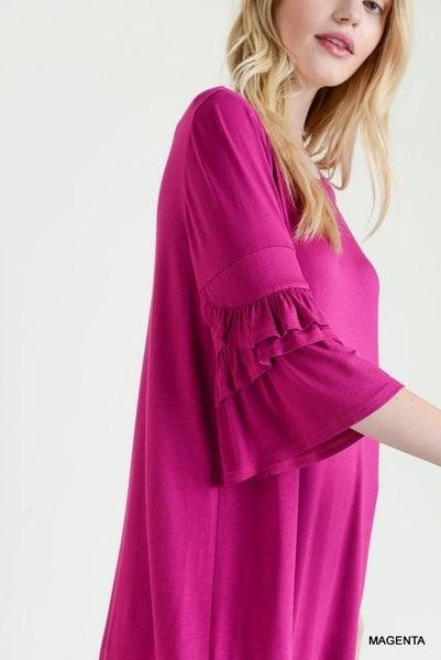 Ruffle 1/2 Sleeve Dress 02911