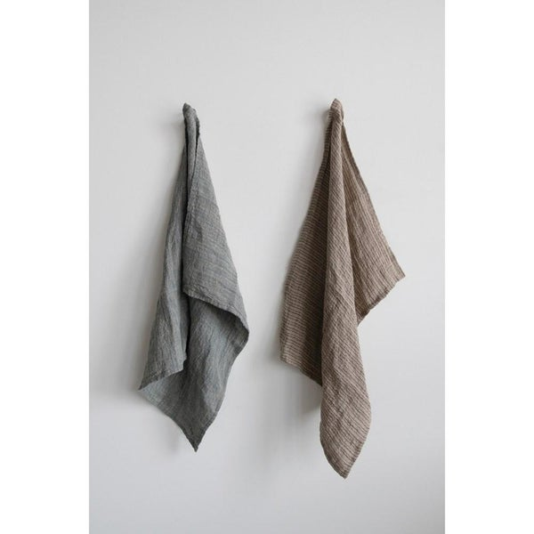 Woven Linen Striped Tea Towel 02304