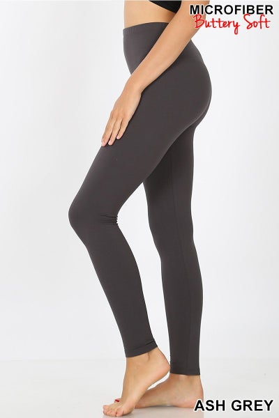 PREMIUM MICROFIBER FULL LENGTH LEGGINGS 01316