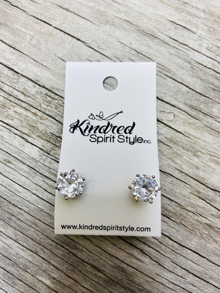 CZ Stud Earrings 03769