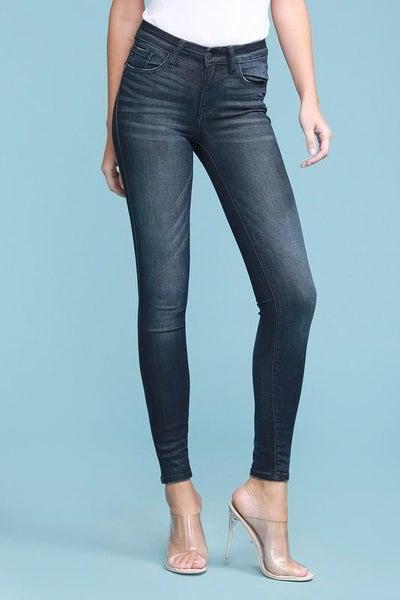 Dark Mid Rise Skinny Judy Blue Jeans 02112