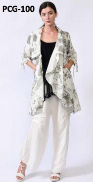 Floral Grey Jacket 03729