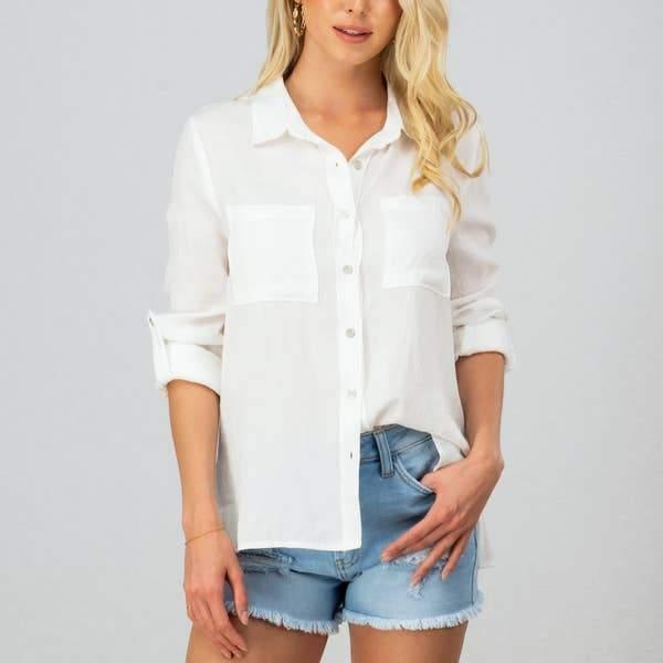 Linen Button Down Shirt 02074