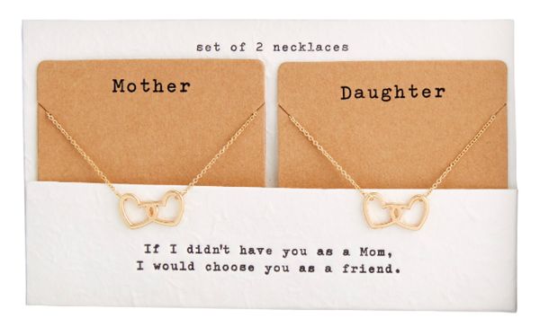 MOTHER AND DAUGHTER NECKLACE SET 03781