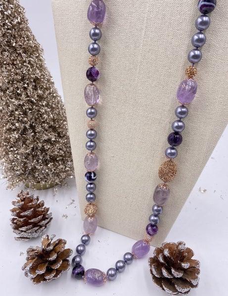 Natural Ametrine Purple Necklace
