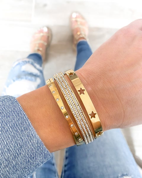 (Gold, Silver or Rose) You Are A Star Bracelet