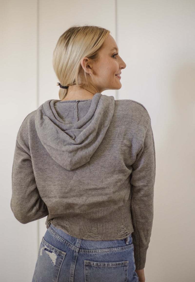 (4 colors) Just Imagine Distressed Sweater