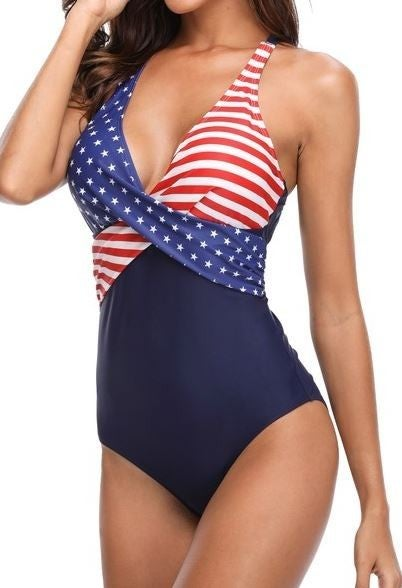 (1 Small left!) God Bless America One Piece Swimsuit