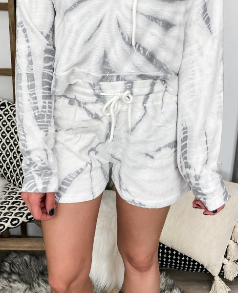 Lost In The Moment Terry Cotton Tie Dye Lounge Shorts