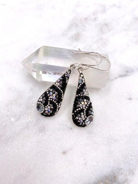Pretty Austrian Crystal Dangle Teardrop Earring