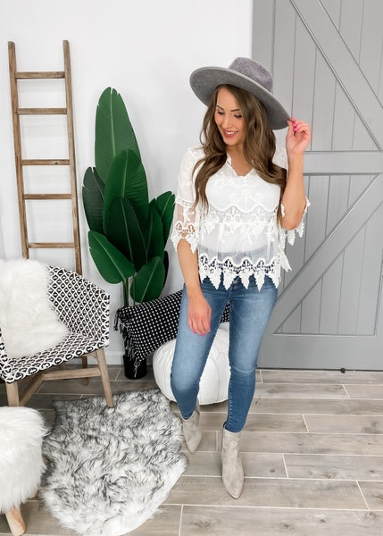 POL Amazing Crochet Lace Top