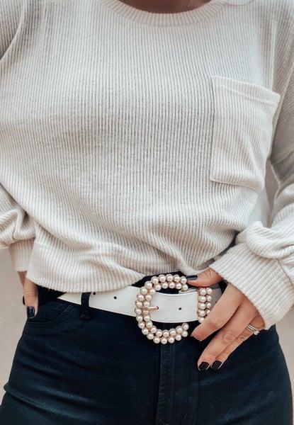 (4 colors) Pearl Belt