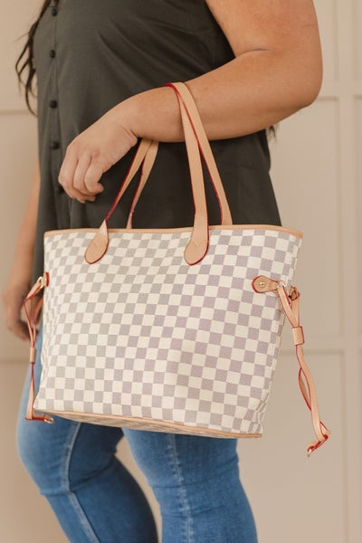 (2 Colors) Girls Trip On Trend Checkered Bag