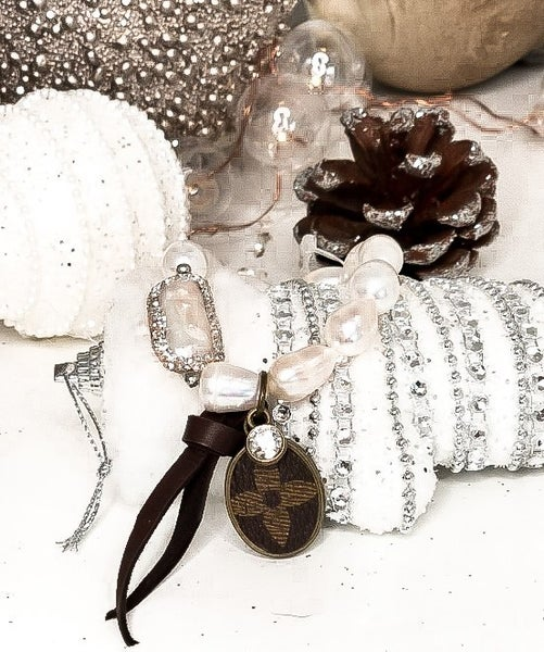 LV Upcycled Pearl Bracelet
