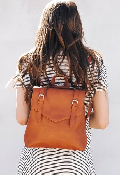Buckle Flap Convertible Backpack