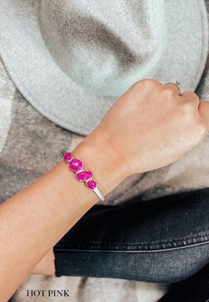 (5 stone options) Krush Kouture: Rock Kandy Bracelet