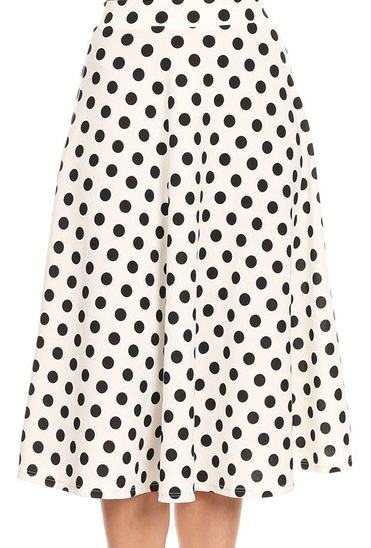 Polka Dot High Waisted Skirt