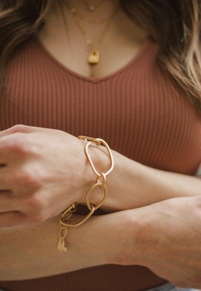 Reaching Goals Jumbo Link Gold Bracelet