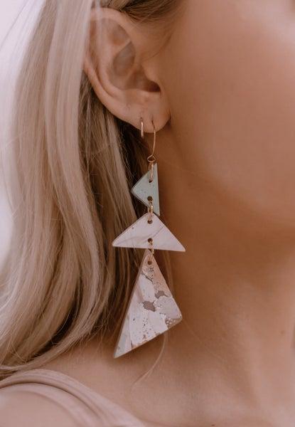 Forever Grateful Clay Earrings