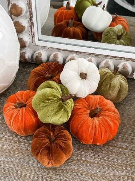 Velvet Pumpkins (Set of 7!!)