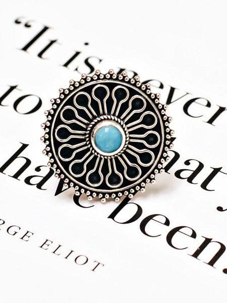 Boho Dainty Turquoise Ring