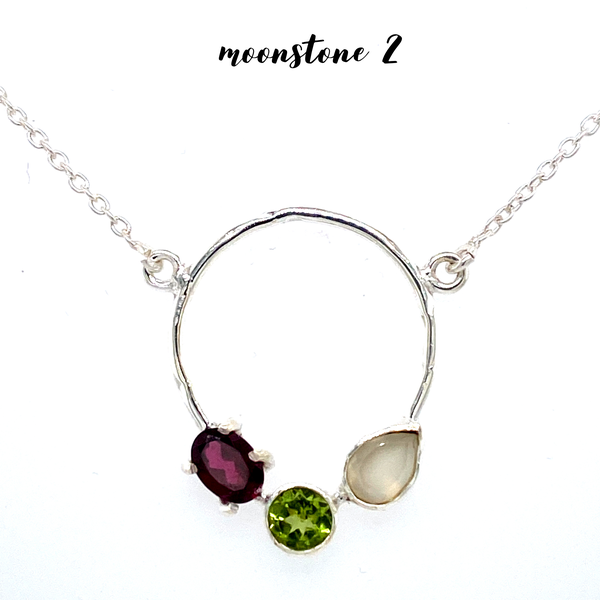 (8 options) Exclusive: 3 Stone Circle Necklace