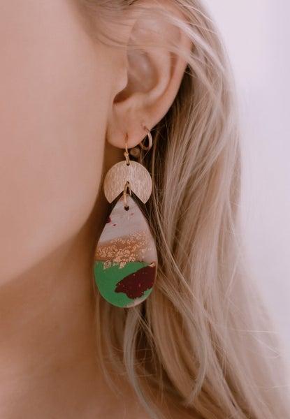 Miss You Clay Earrings