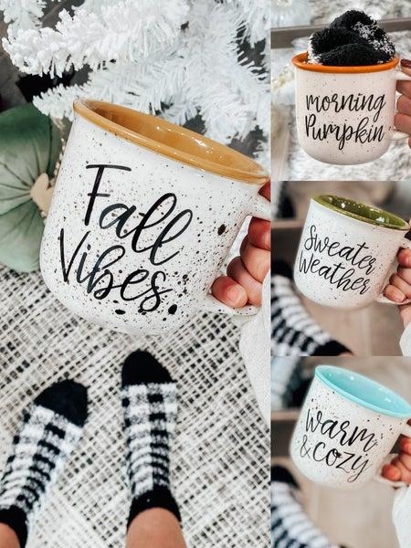 DOORBUSTER: (4 options) Cozy Holiday Mug W/ Socks