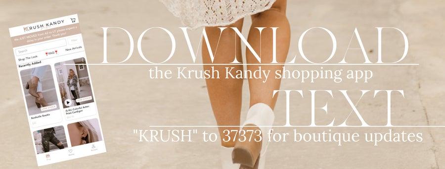 Krush Kandy Mobile App