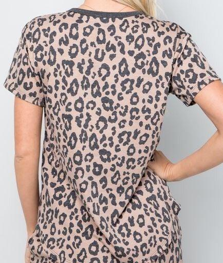 Wildly Cozy Leopard Loungewear Top