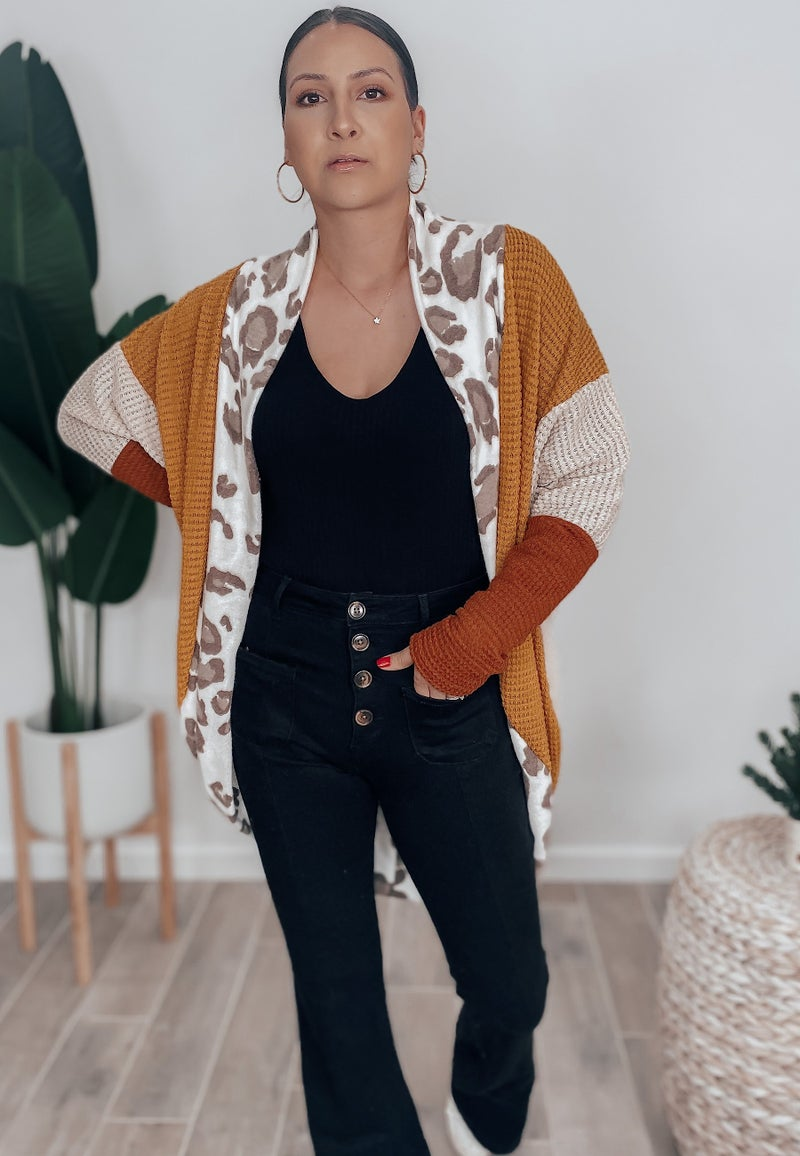 Down For You Leopard Cardigan