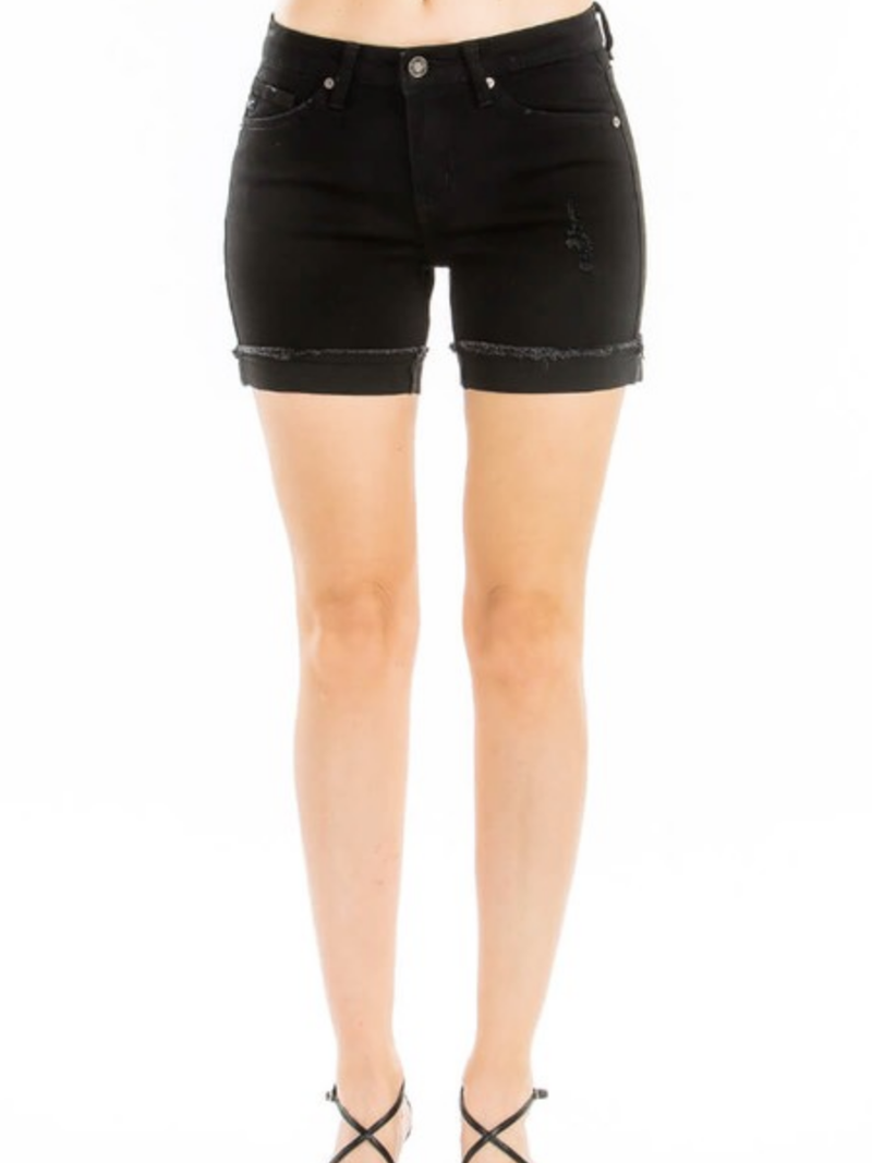 KanCan Cute Cuff Short in Black or White