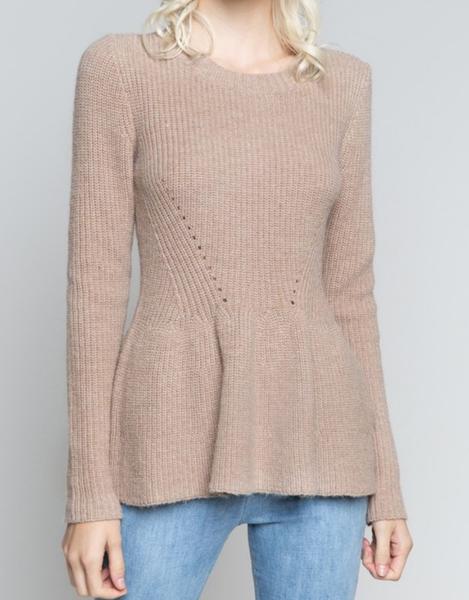 POL Cute and Cozy Peplum Sweater
