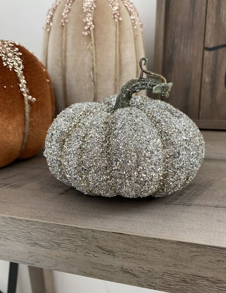Small Glittered Pumpkin