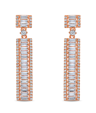Gorgeous Dainty Rose Gold Pave Earrings