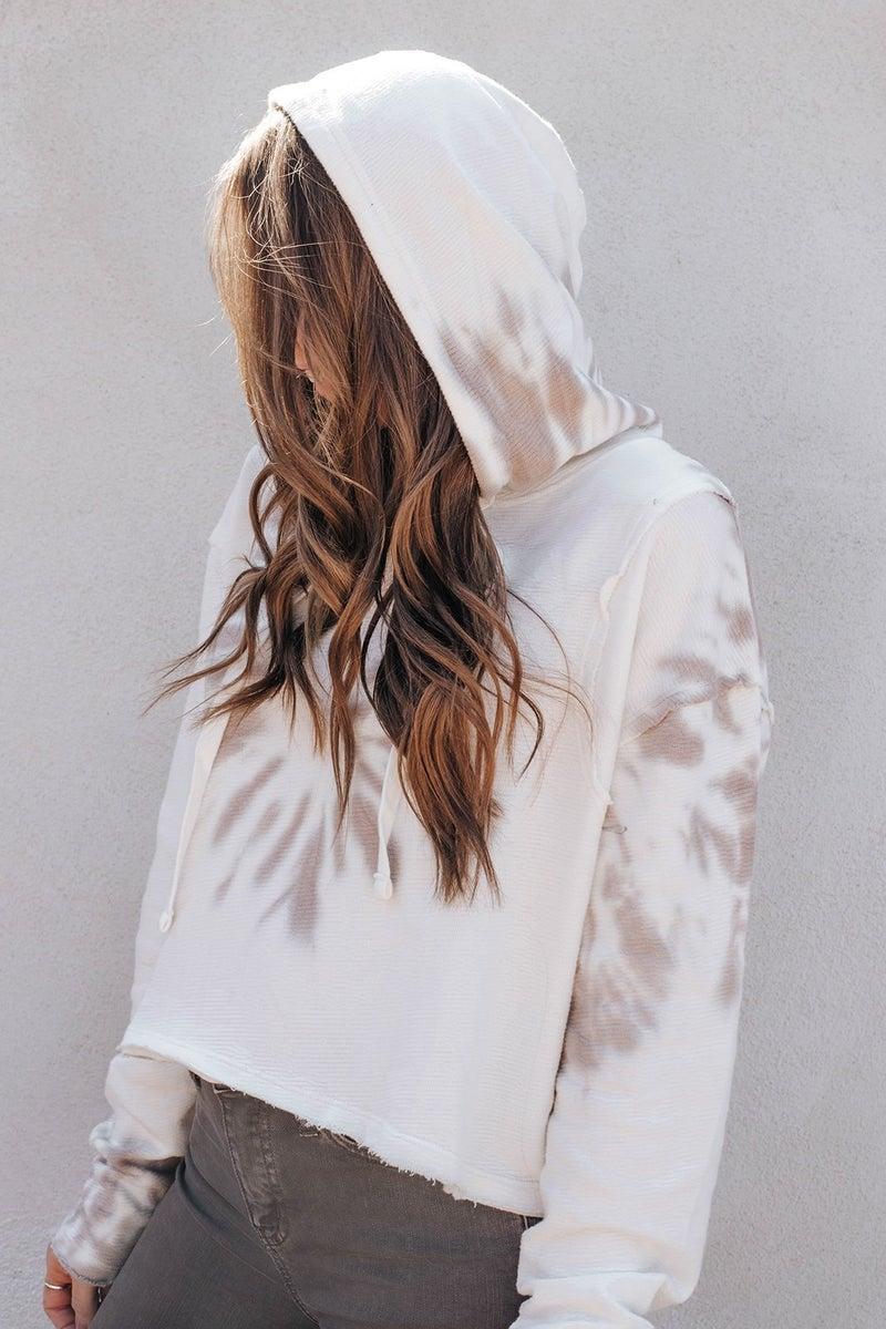 Neutral Tie Dye Hoodie