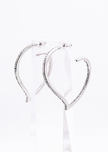Swarovski I Heart You Hoop Earrings