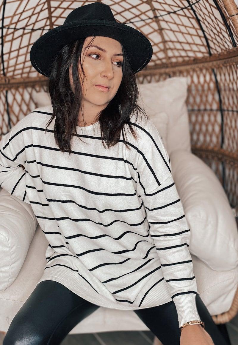 (0-18) Sexy Stripe Sweater