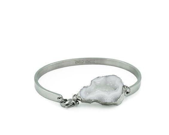 Silver Agate Bracelet