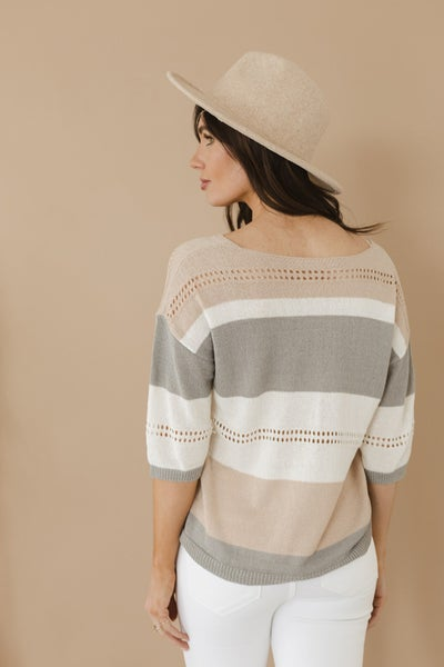 (S-2X!!) Wishing For The Weekend Lightweight 3/4 Sleeve Sweater