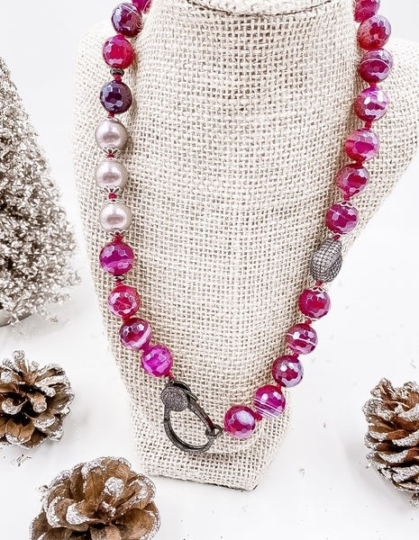 Plum With Me Necklace