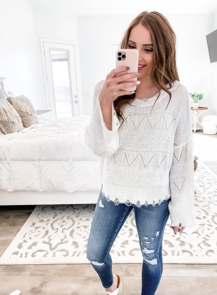 (3 colors!) POL Shimmer Short Sweater