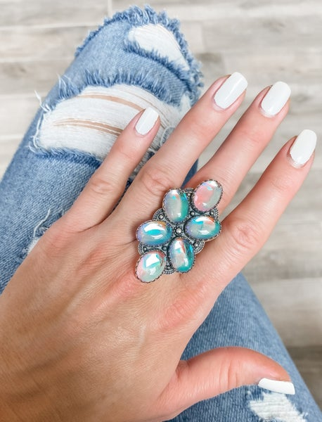 (4 colors) Pretty Hyacinth Flower Pod Sterling Silver Ring