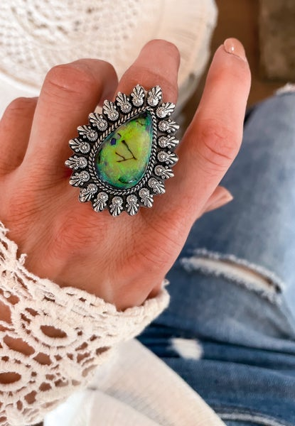 Krush Exclusive: Adjustable One of A Kind Sterling Opal Rings