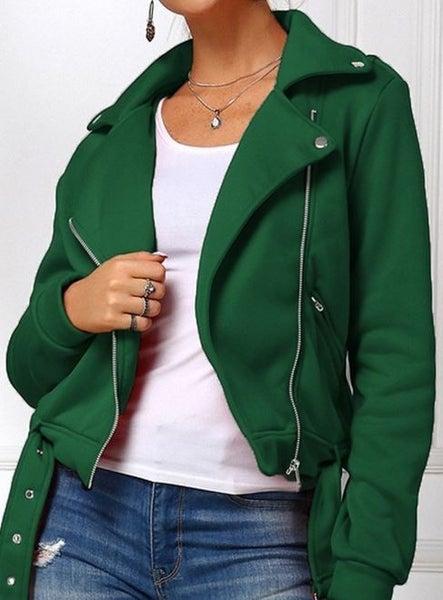 (1 S & M left!) (5 colors) Meet Me in Midtown Cropped Moto Jacket
