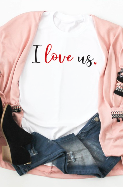 S-3X PRE ORDER I LOVE US Graphic Tee