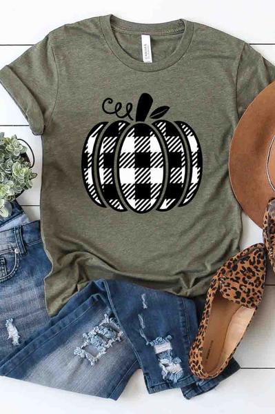 Plaid Pumpkin Graphic Tee