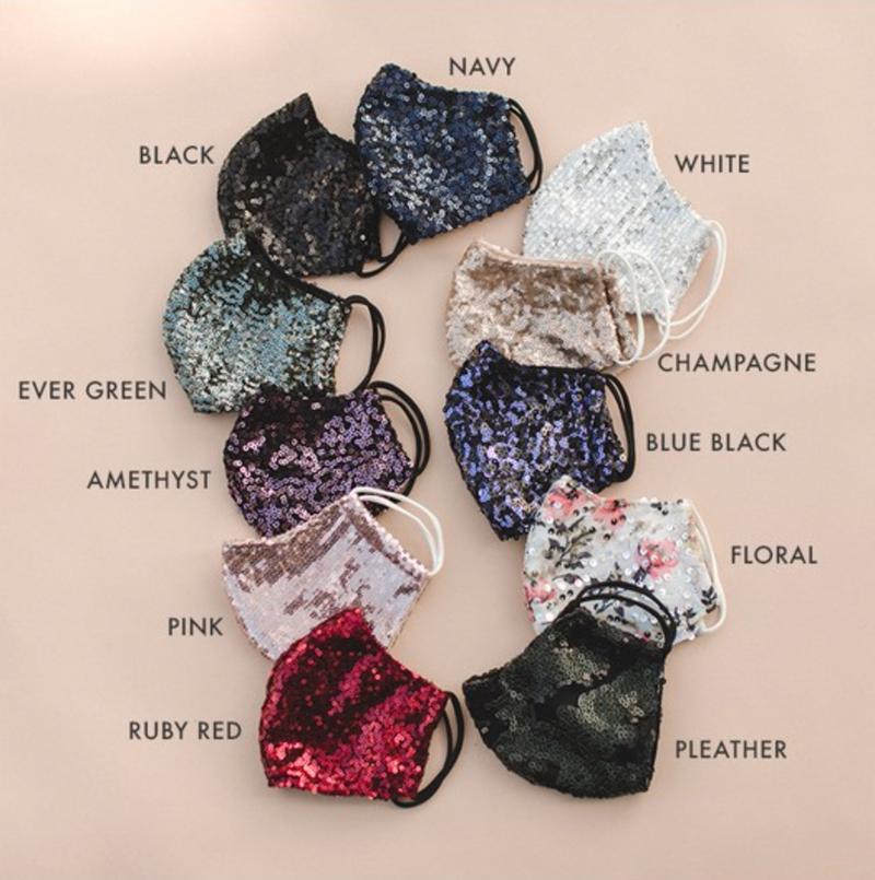 (11 Colors!) Gorgeous Sequin Face Coverings