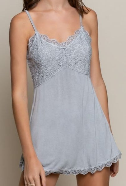 POL Feeling Loved Lace Knit Cami Top