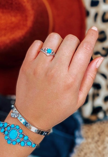 Dainty Turquoise Love Ring